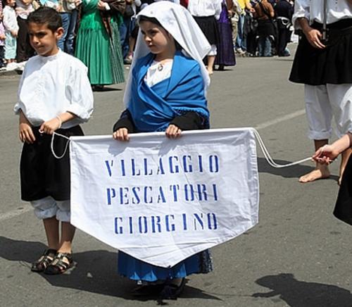 Uno dei gruppi della Processione: Giorgino